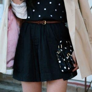 j. crew | mini linen navy skirt | crewcuts